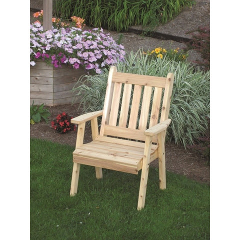 Traditional English Chair in Cedar Wood - Buy Online at YardEpic.com