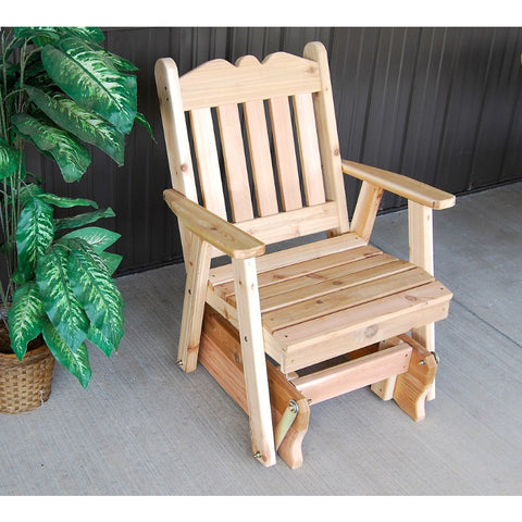 Royal English Glider Chair in Cedar Wood - Buy Online at YardEpic.com