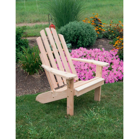 Kennebunkport Adirondack Chair in Red Cedar - Buy Online at YardEpic.com