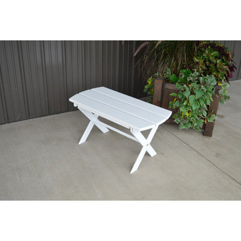 Outdoor Folding Coffee Table in Yellow Pine - Buy Online at YardEpic.com