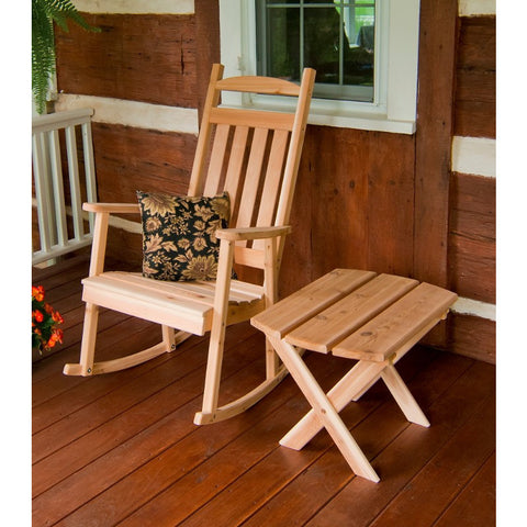 Classic Porch Rocker in Cedar Wood - Buy Online at YardEpic.com