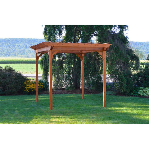 8' x 8' Cedar Wood Pergola w/ Swing Hangers - Buy Online at YardEpic.com