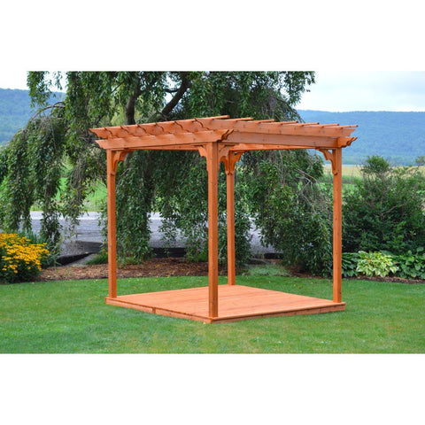 8x8 Ft. Cedar Pergola w/ Deck & Swing Hangers - Buy Online at YardEpic.com