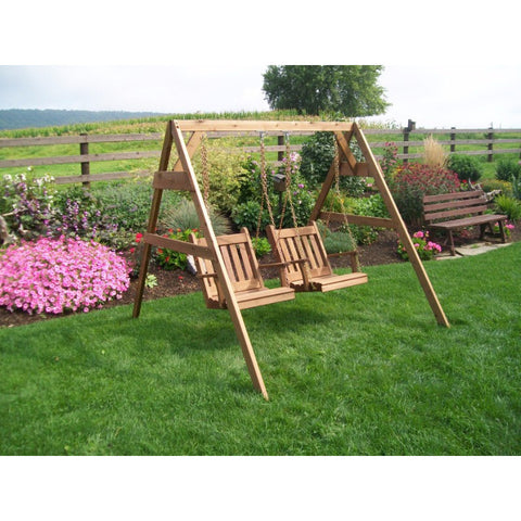5' A-Frame Swing Stand for 2 Chair Swings (Hangers Included) - Buy Online at YardEpic.com