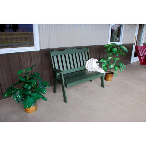 Poly Royal English Garden Bench - Buy Online at YardEpic.com