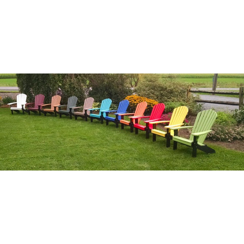 Poly Fanback Adirondack Chair - Buy Online at YardEpic.com