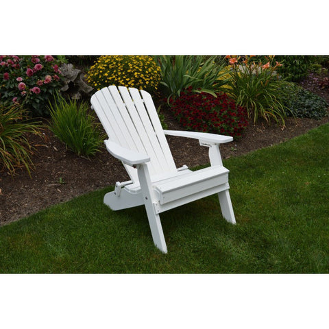 Folding Reclining Adirondack Chair HDPE Poly - Buy Online at YardEpic.com