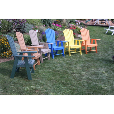 Upright Adirondack Chair HDPE Poly - Buy Online at YardEpic.com