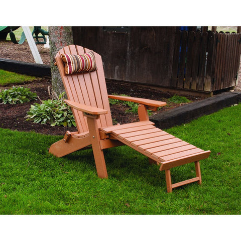 Poly Folding/Reclining Adirondack Chair w/ Pullout Ottoman - Buy Online at YardEpic.com