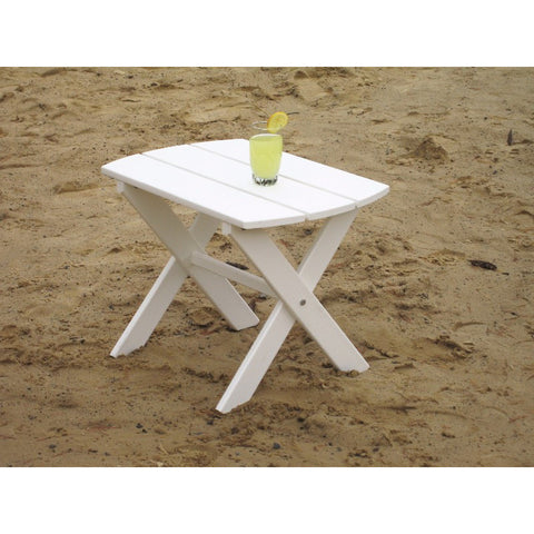 Folding End Table in HDPE Poly - Buy Online at YardEpic.com
