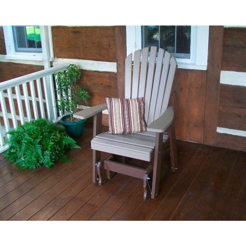 Adirondack Gliding Chair in Poly HDPE Recycled Plastic - Buy Online at YardEpic.com