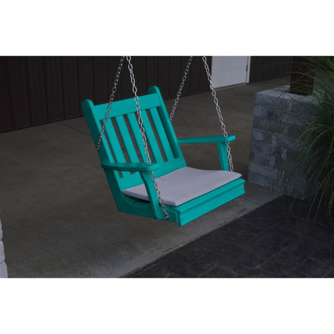 Traditional English Chair Swing in HDPE Plastic - Buy Online at YardEpic.com