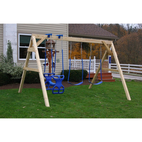 Large A-Frame Backyard Swingset Gliders & Swings - Buy Online at YardEpic.com