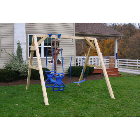 Small A-Frame Swingset with 1 Glider & Swing - Buy Online at YardEpic.com