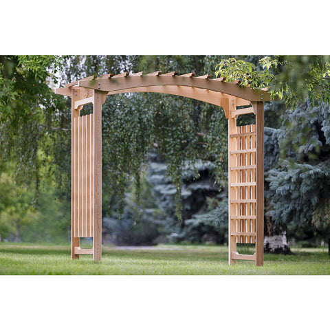 8 Foot Cedar Wedding Arbor - All Things Cedar - Buy Online at YardEpic.com