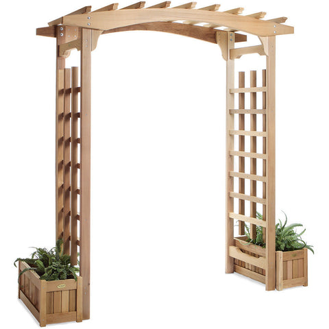 6 Foot Pagoda Arbor with Planters - All Things Cedar - Buy Online at YardEpic.com