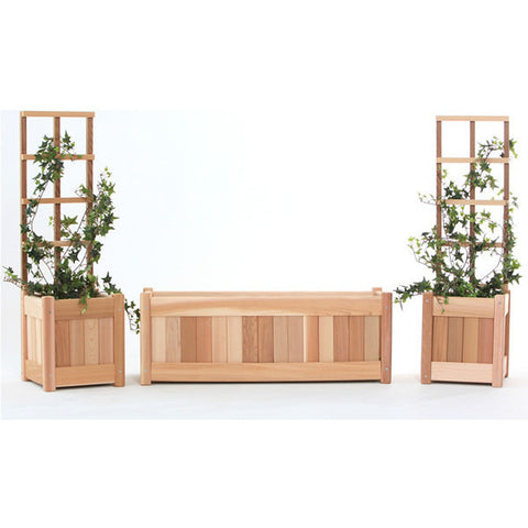 5pc. Planter Set w/ Trellis - All Things Cedar - Buy Online at YardEpic.com