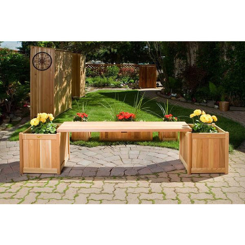 Planter w/ Bench Sets PLB60U-3P - All Things Cedar - Buy Online at YardEpic.com