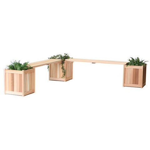 Planter w/ Bench Sets PLB60U-5P - All Things Cedar - Buy Online at YardEpic.com