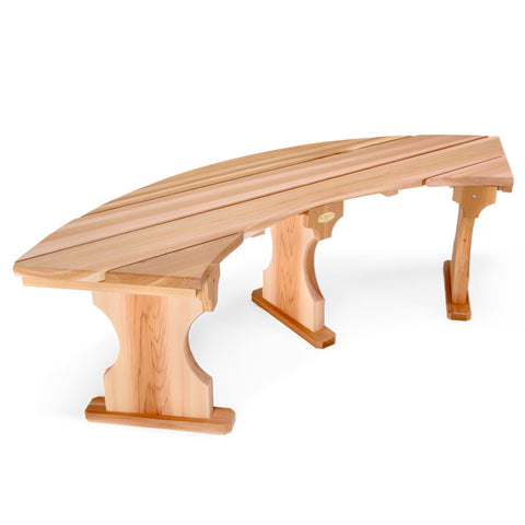Quarter Round Backless Bench Rot Resistant Cedar