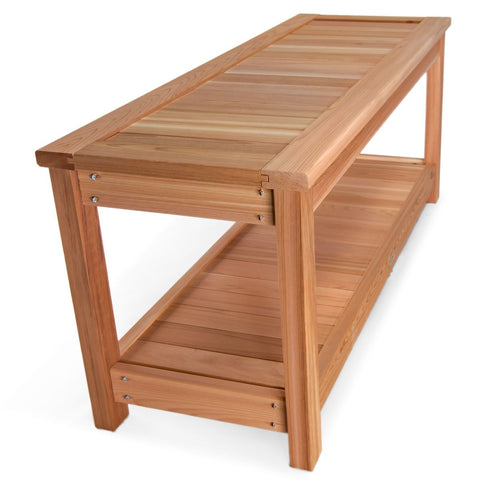 Sauna Pool Shower Bench Red Cedar Wood
