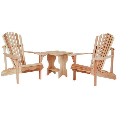 3pc. Adirondack Table/Chair Set ST24U-Set - Buy Online at YardEpic.com