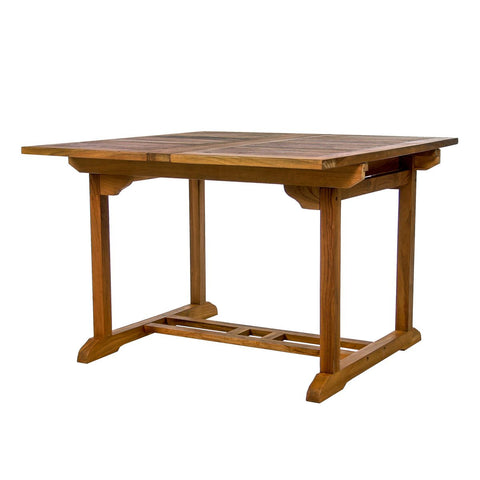 Butterfly Extension Teak Table 50 68 or 75 inches