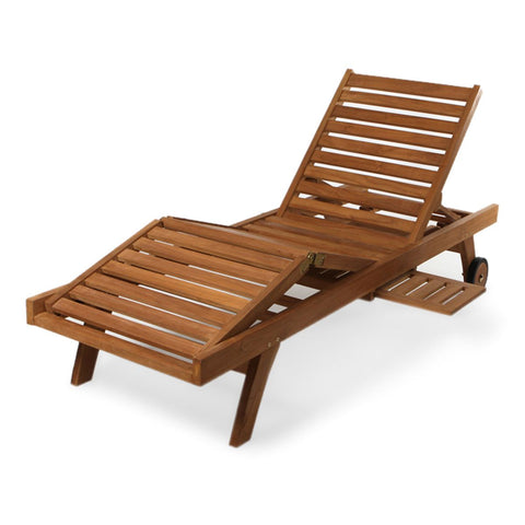 Multi-position Chaise Lounger Teak Pool Chair