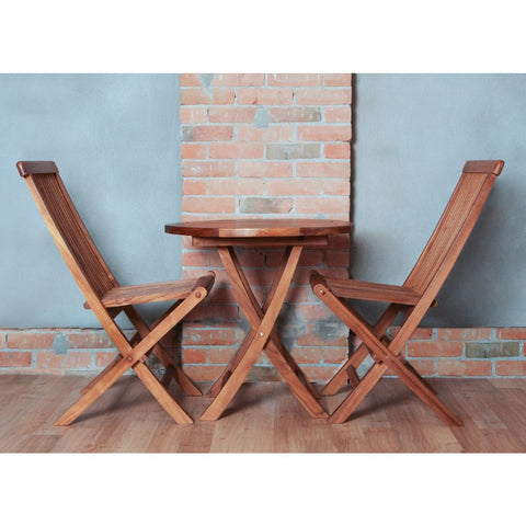 3-Piece Teak Bistro Table Set