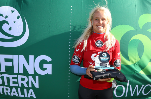 Emma Cattlin winner surfingWA