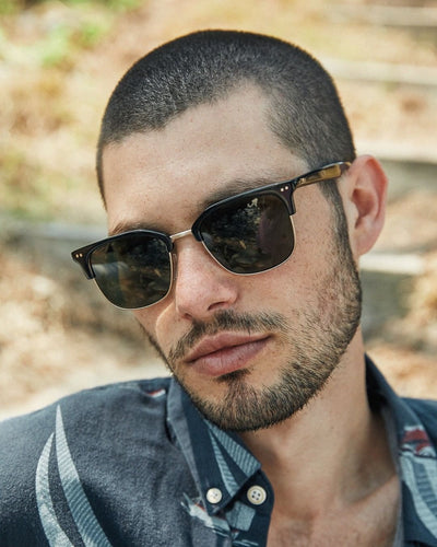 Otis 100 club Black/Brushed Gold/Grey Polarised - Board Store Otis EyewearSunglasses