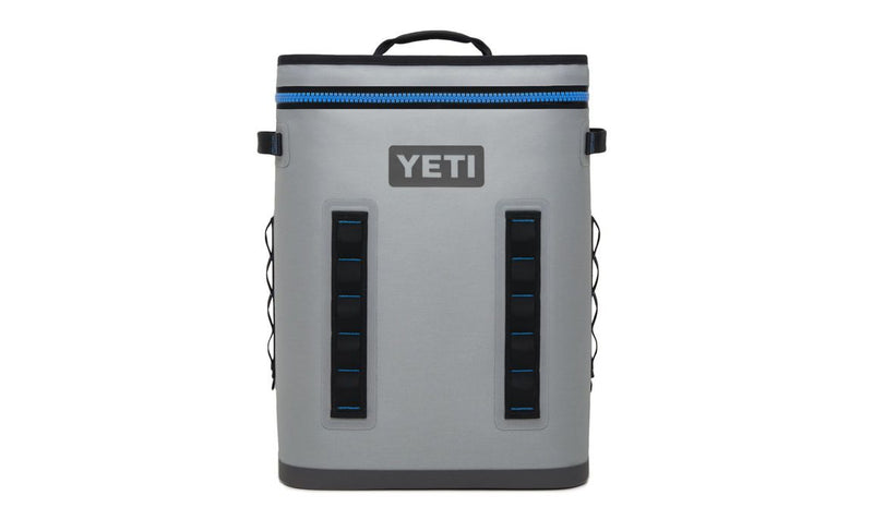 Yeti Hopper Flip 24 Fog Gray / Tahoe Blue (Top Handle) - Board Store YetiSoft Cooler