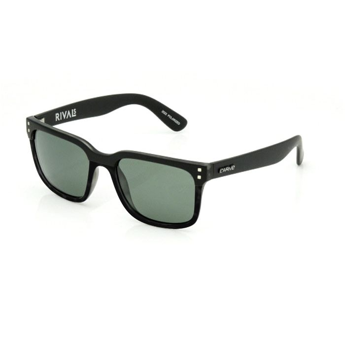 Carve Rival Matt/Gloss Black Polarised - Board Store CarveSunglasses