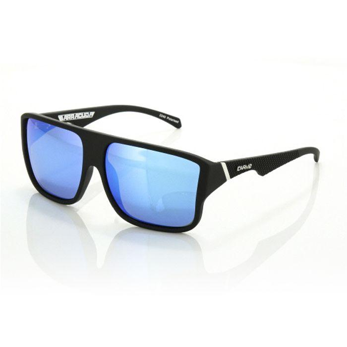 Carve Barracuda Matt Black Polarised Mirror - Board Store CarveSunglasses