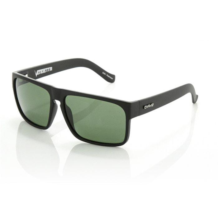 Carve Vendetta Matt Black Polarised - Board Store CarveSunglasses