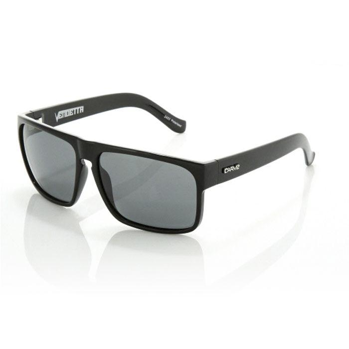 Carve Vendetta Black Grey Polarised - Board Store CarveSunglasses