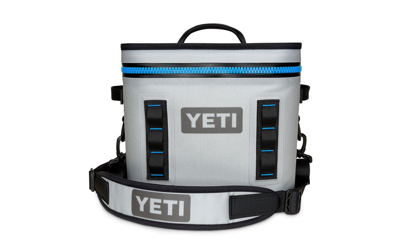 Yeti Hopper Flip 12 Fog Gray / Tahoe Blue (Top Handle) - Board Store YetiSoft Cooler