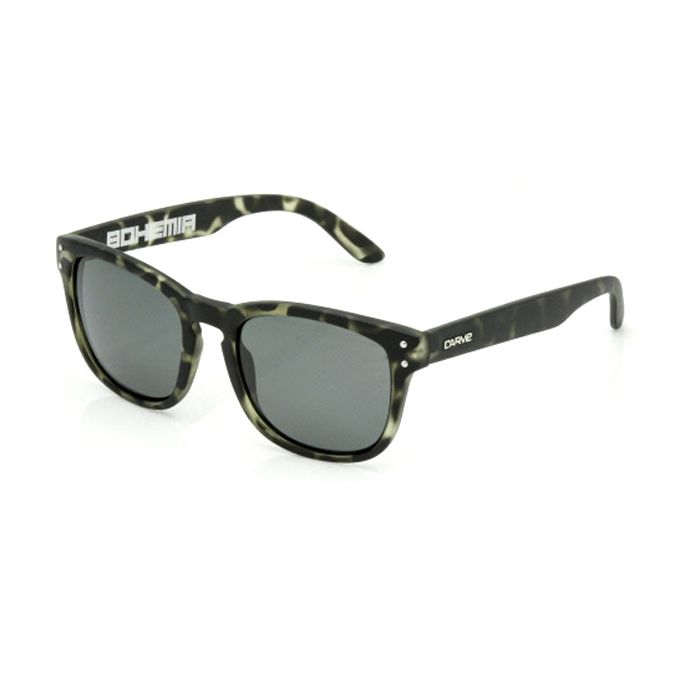 Carve Bohemia Matt Black Tort Polarised - Board Store CarveSunglasses