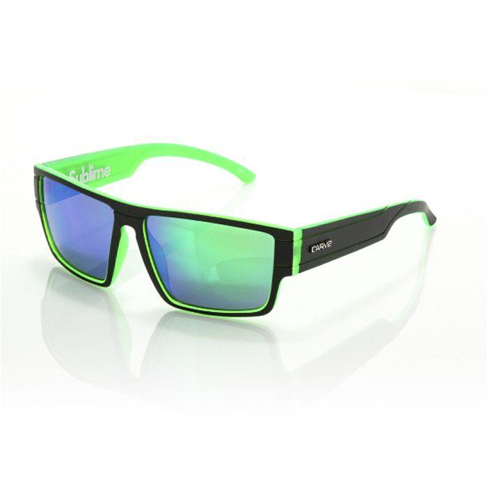 Carve Sublime Matt Blk/green  Mirror - Board Store CarveSunglasses