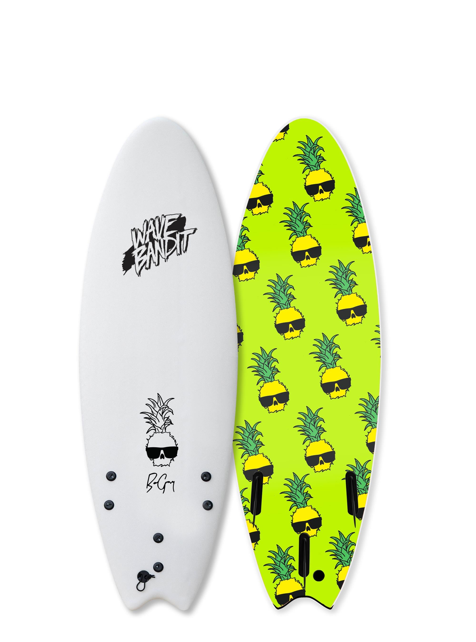 Catch Surf Wave Bandit Performer Tri - Ben Gravy 5-6 White 20 - Board Store Catch SurfSoftboard