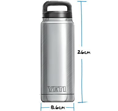 Yeti Rambler 26oz Bottle Black - Board Store YetiDrinkware