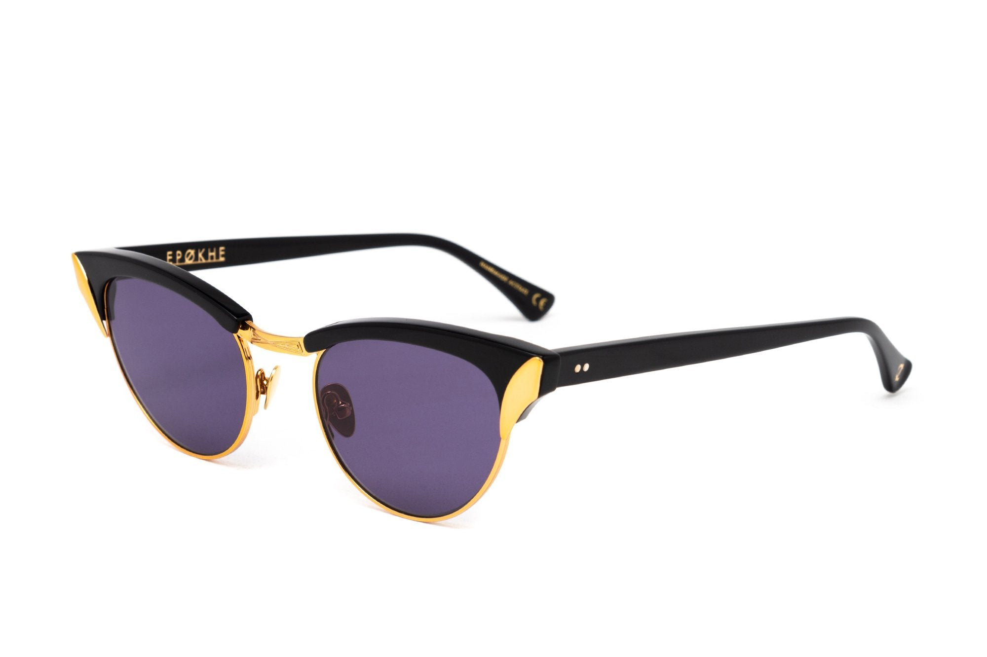 Epokhe AUSTYN - BLACK POLISHED/GOLD/BLACK - Board Store EpokheSunglasses
