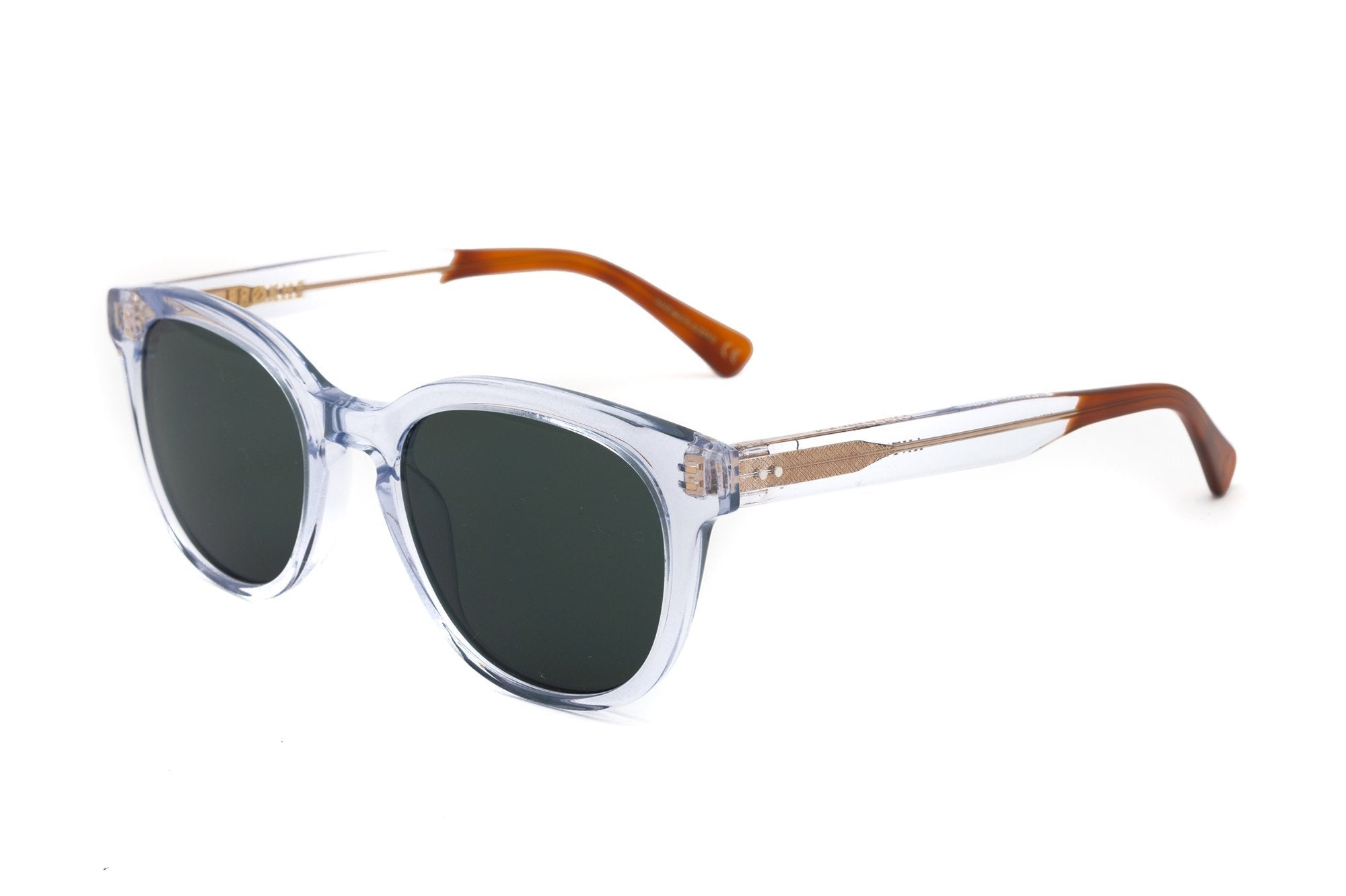 Epokhe ANTEKA 2.0 - CRYSTAL POLISHED/GREEN - Board Store EpokheSunglasses