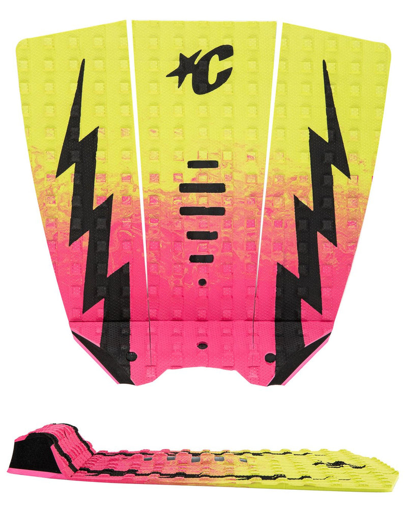 Creatures MICK EUGENE FANNING LITE : PINK FADE LIME BLACK - Board Store CreaturesTraction