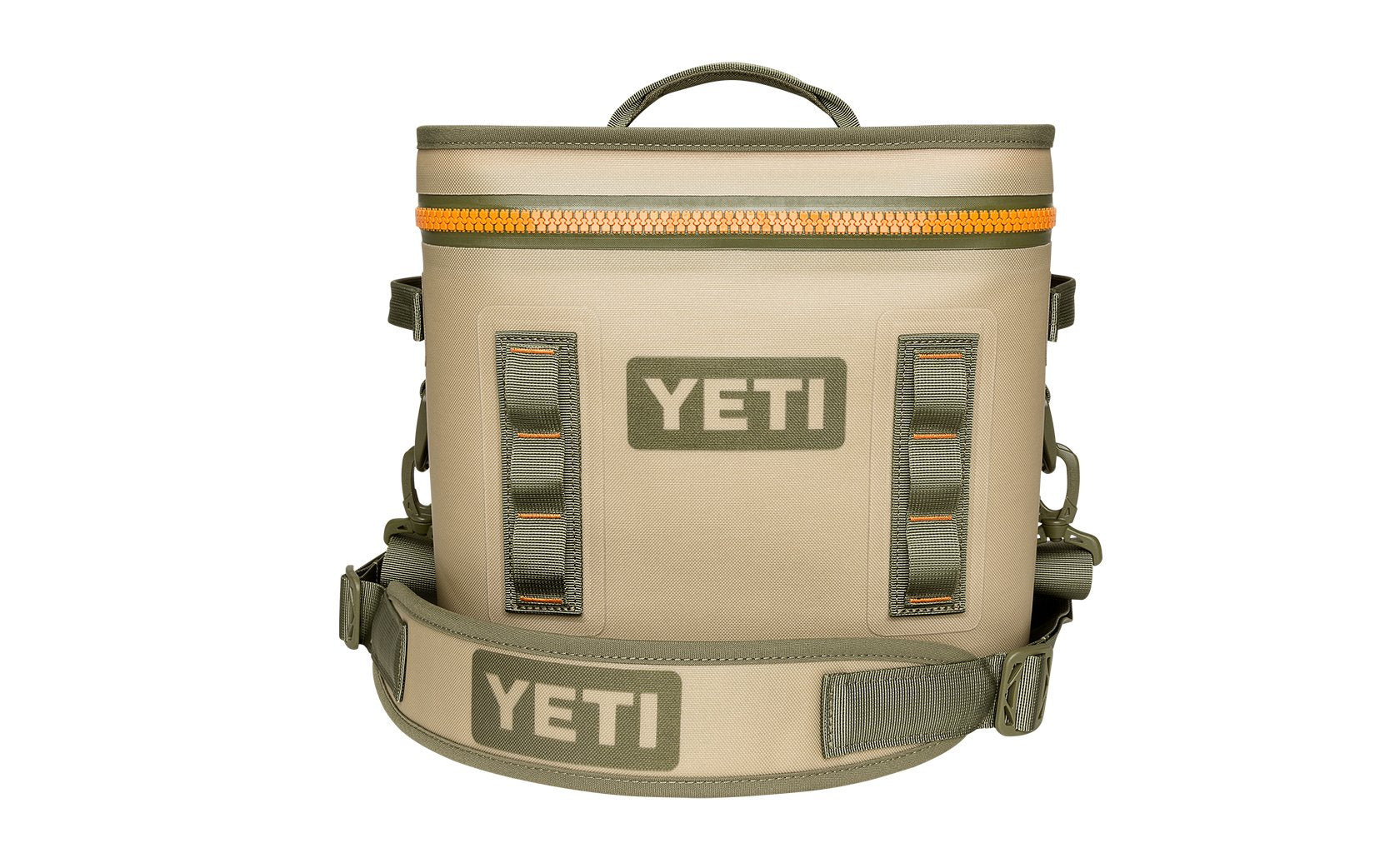 Yeti Hopper Flip 18 Field Tan/Blaze Orange (Top Handle) - Board Store YetiSoft Cooler