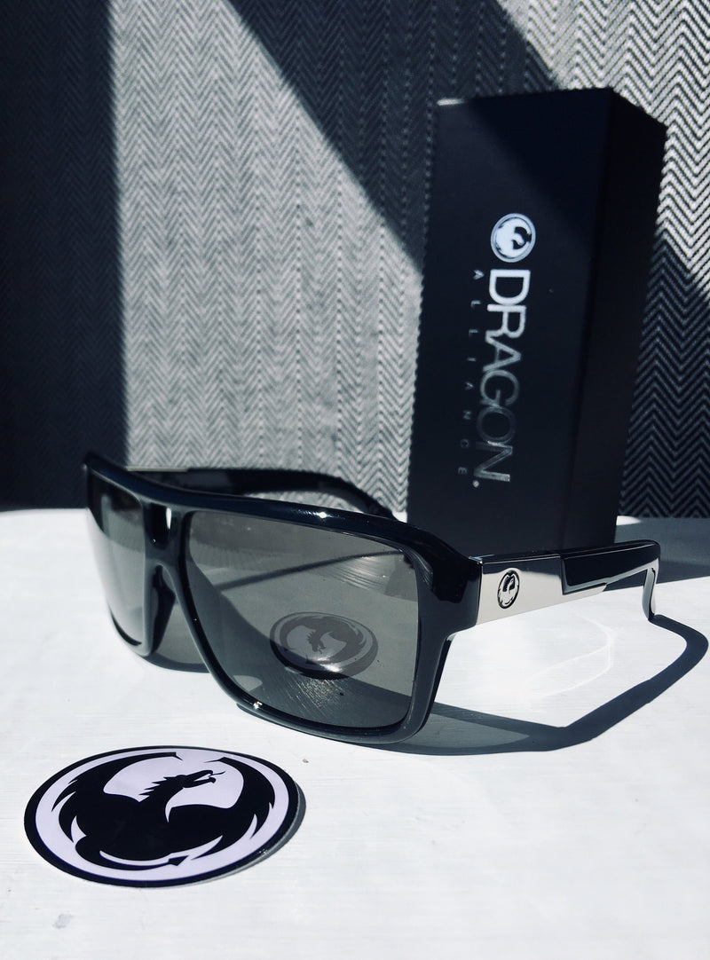 Dragon The Jam Jet Black/Smoke - Board Store Dragon AllianceSunglasses