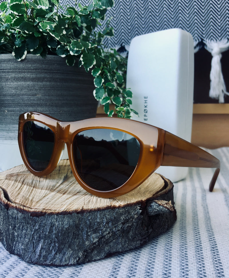 Epokhe CANDY - BURNT BUTTER POLISHED/GREEN - Board Store EpokheSunglasses