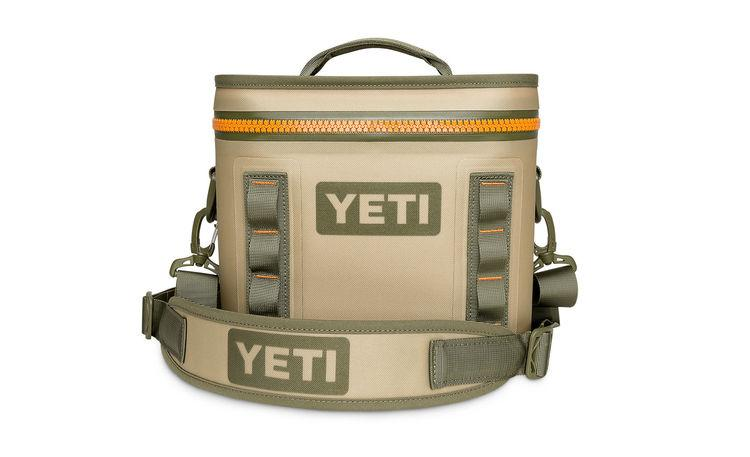 Yeti Hopper Flip 8 Field Tan/Blaze Orange (Top Handle) - Board Store YetiSoft Cooler
