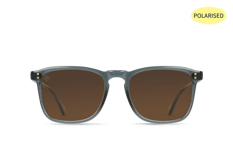 RAEN Wiley Slate Crystal/Vibrant Brown Polarised 54 - Board Store RaenSunglasses