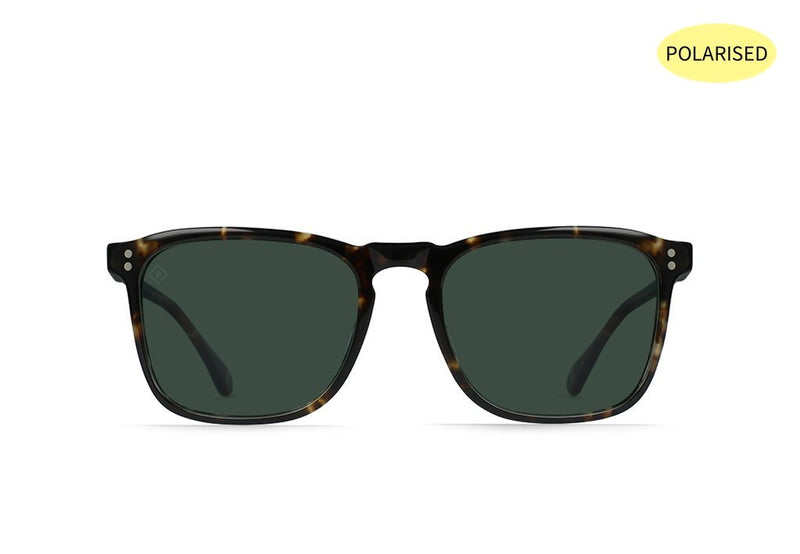 RAEN Wiley Matte Black and Brindle/Green Polarised - Board Store RaenSunglasses